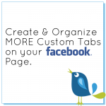 Create and organize more custom tabs on your facebook page