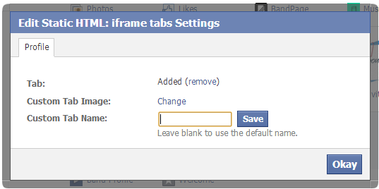 Create custom apps on your facebook page 3